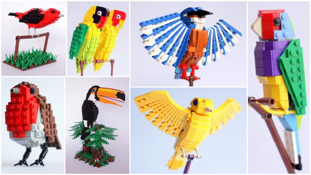 Lego cuusoo lego bird project achieves 10 000 supporters for Birds project